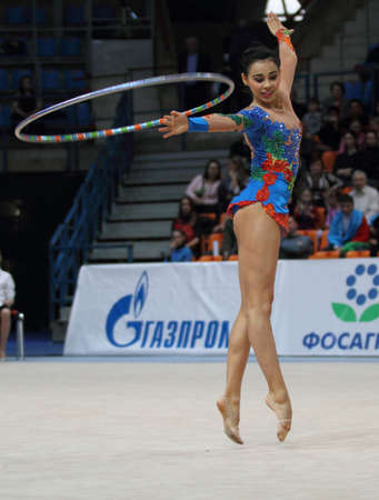 MOSCOW, RUSSIA - FEBRUARY 20: International Tournament in Rhythmic Gymnastics Grand Prix Cup champions Gazprom, February 20, 2010 in Moscow, Russia.