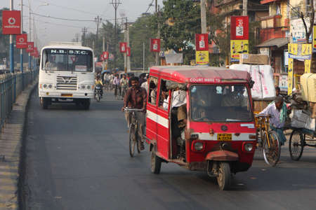west bengal: SILIGURI, INDIA - DECEMBER 4: Streets Siliguri - a transit point for air, road and rail traffic to Nepal, Bhutan, Bangladesh and Indian state Sikkim, on December 4, 2008 in Siliguri, India. Editorial