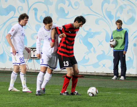 MOSCOW - MAY 5: The championship of Russia on football: Dynamo (Moscow) - Amkar (Perm) - (1:1), May 5, 2010 in Moscow, Russia.