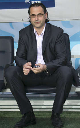 Head coach of FC Dynamo Miodrag Bozovic to match Russian Premier League: Dynamo (Moscow) - Amkar (Perm), May 5, 2010 in Moscow, Russia.