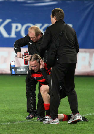 voronin: The championship of Russia on football: Dynamo (Moscow) - Amkar (Perm) - (1:1), May 5, 2010 in Moscow, Russia. Editorial