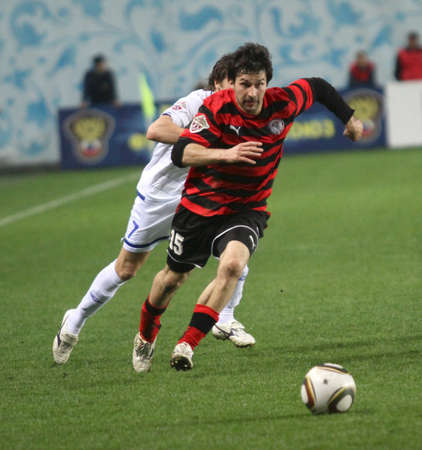 The championship of Russia on football: Dynamo (Moscow) - Amkar (Perm) - (1:1), May 5, 2010 in Moscow, Russia. Editorial