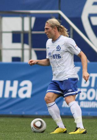 MOSCOW - JULY 3: Dynamo Moscows forward Andrei Voronin in the VTB Lev Yashin Cup: FC Dynamo Moscow vs. FC Dynamo Kyiv (2:0), July 3, 2010 in Moscow, Russia.