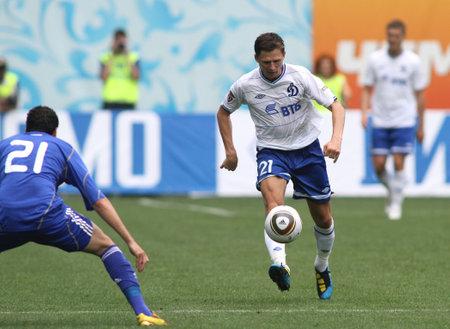 midfielder: MOSCOW - JULY 3: Dinamos midfielder Igor Semshov in the VTB Lev Yashin Cup: FC Dynamo Moscow vs. FC Dynamo Kyiv (2:0), July 3, 2010 in Moscow, Russia.
