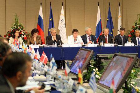 15 CEMAT-conferentie in Moskou (conferentie van ministers van ruimtelijke ordening van de Raad van Europa verantwoordelijk voor ruimtelijke  regionale planning), 8 juli 2010, Moskou, Rusland.