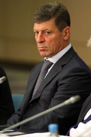 comit� d entreprise: Deputy Prime Minister of the Russian Federation Mr. Dmitry Kozak, during a 15 CEMAT conference in Moscow (Council of Europe conference of ministers responsible for spatialregional planning), 8th July 2010, Moscow, Russia. �ditoriale