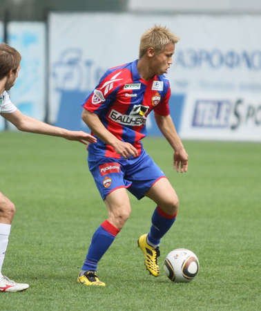 MOSCOW - MAY 10: CSKA�s Keisuke Honda in action during their team�s Russian football championship game CSKA (Moscow) vs. Terek (Grozny) - (4:1), May 10, 2010 in Moscow, Russia.