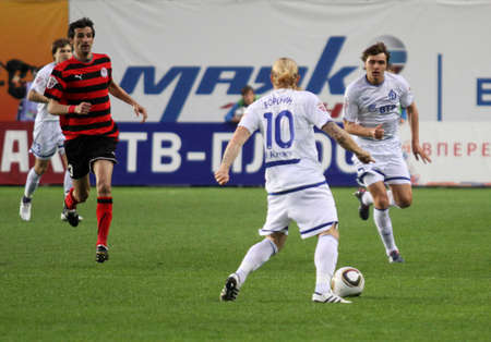 MOSCOW - MAY 5: The championship of Russia on football:  Editorial