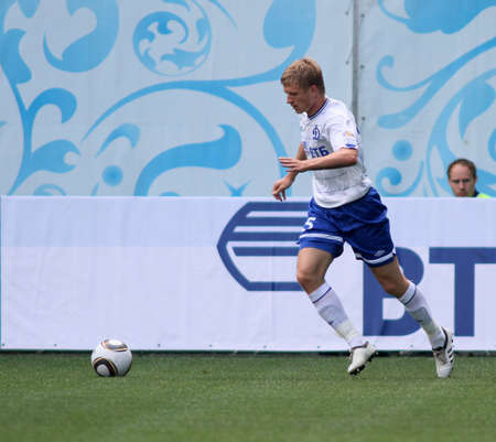 midfielder: MOSCOW - JULY 3: Dynamo Moscows defender Denis Kolodin in the VTB Lev Yashin Cup: FC Dynamo Moscow vs. FC Dynamo Kyiv (2:0), July 3, 2010 in Moscow, Russia. Editorial