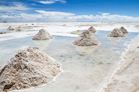 Salar de Uyuni is part of the Altiplano of Bolivia in South America.  photo