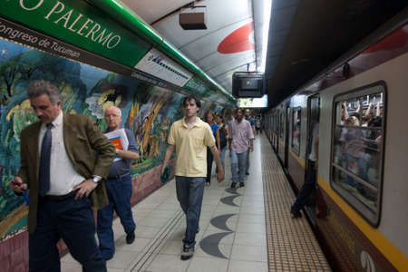 Subway in Buenos Aires is Latin Americas oldest, work is underway to extend the lines B in another 2 stations, December 17, 2010 in Buenos Aires, Argentina.