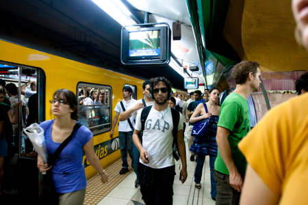buenos: Subway in Buenos Aires is Latin Americas oldest, work is underway to extend the lines B in another 2 stations, December 17, 2010 in Buenos Aires, Argentina.