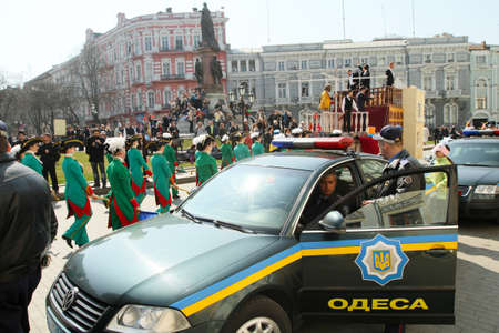 celebrated: People celebrated April Fools Day on the main streets of the city, April 1, 2011 in Odessa, Ukraine.