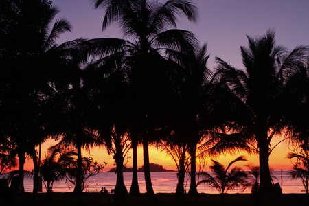 The resort at sunset  photo