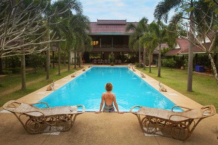 Swimming pool in spa resort Stock Photo - 11564864