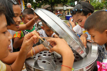 KO CHANG, THAILAND - JANUARY 14: Celebrating Thailand National Childrens Day, known as Wan Dek, on January 14, 2012 on Ko Chang, Thailand.