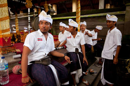 Ubud, Bali - March 18, 2012: People performing Melasti Ritual before Nyepi - a Balinese Day of Silence. Stock Photo - 12768731