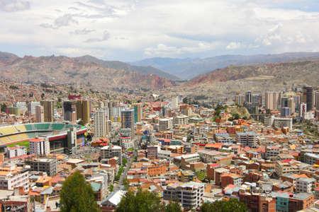 la paz: General view of La Paz, Bolivia Stock Photo