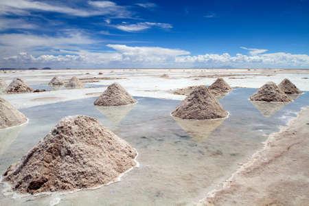 salar de uyuni: Salar de Uyuni in Bolivia Stock Photo