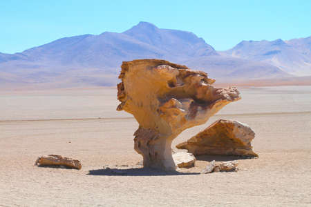Stone rock formation - Arbol de piedra, Bolivia photo