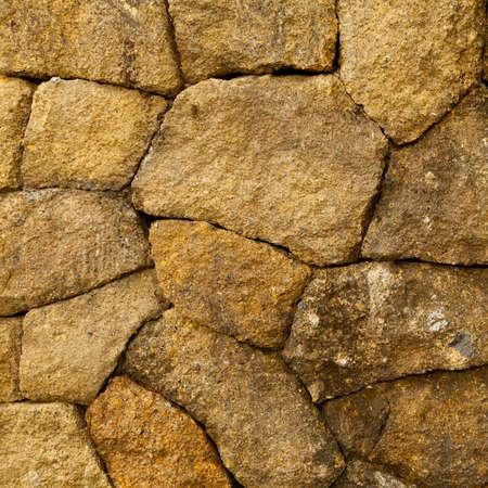 Stone wall, square texture photo