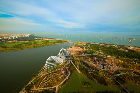 River Hongbao from roof Marina Bay Hotel viewpoint, Singapore  photo