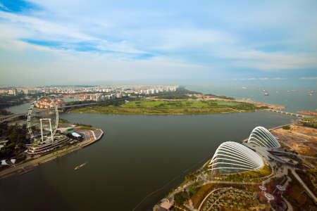 River Hongbao view from roof Marina Bay Hotel, Singapore  Stock Photo