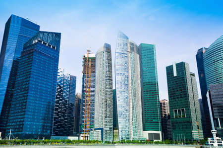 the central bank: Skyscrapers of Singapore business district, Singapore