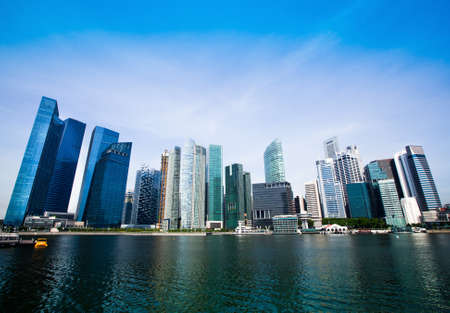 Skyline de Singapour affaires de Singapour quartier
