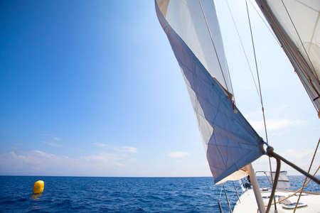 sailing: abstract image  Sailing yacht race at the finish