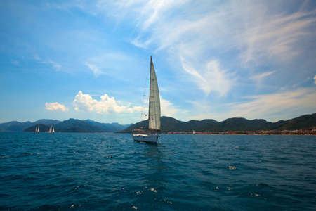 Yachting in the Mediterranean Sea Stock Photo - 14064162