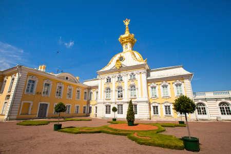 West side of Peterhof Palace, St  Petersburg, Russia photo