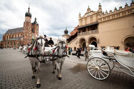 Krakow, Polonya - 18 Temmuz: Krakow, Polonya Krakow, 18 Mayıs 2012 tarihi merkezi. 2 milyon - Bu yıl kent 8,1 milyon yüksek seviye olan turistler, yabancı turist tarafından ziyaret edildi. Editorial
