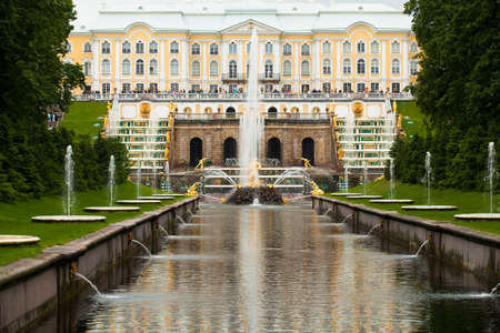 Peterhof Grand Cascade in St Petersburg, Russia