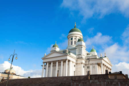 the senate: Cathedral on Senate Square in Helsinki  Finland