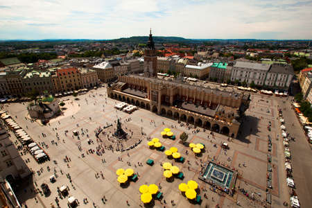 View of the Main Square  Poland  Stock Photo
