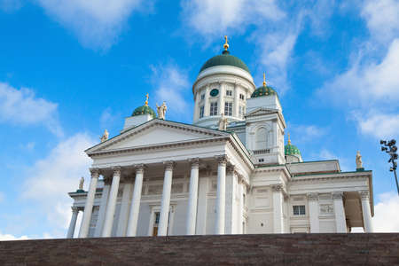 engel: Cathedral on Senate Square in Helsinki, Finland  Stock Photo