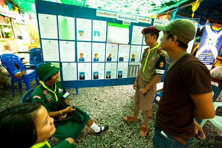 KO CHANG, THAILAND - NOVEMBER 18: Unidentified participate at local Ko Chang Elections, November 18, 2012 on Ko Chang island, Thailand. Elections their own district councils and Mayor, 4 years cycle. Stock Photo - 16377650