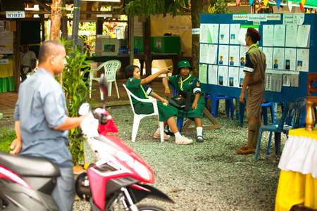 councils: KO CHANG, THAILAND - NOVEMBER 18: Unidentified participate at local Ko Chang Elections, November 18, 2012 on Ko Chang island, Thailand. Elections their own district councils and Mayor, 4 years cycle.