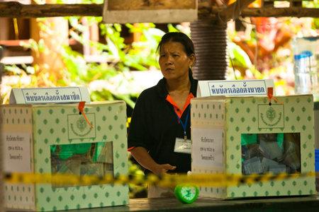 KO CHANG, THAILAND - NOVEMBER 18: Unidentified participate at local Ko Chang Elections, November 18, 2012 on Ko Chang island, Thailand. Elections their own district councils and Mayor, 4 years cycle. Stock Photo - 16377646