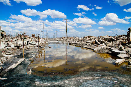 water contamination: Epecuen Dead City, Argentina