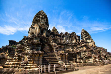 Angkor Wat is the largest Hindu temple complex and the largest religious monument in the world, It has become a symbol of Cambodia, appearing on its national flag, and it is the country photo