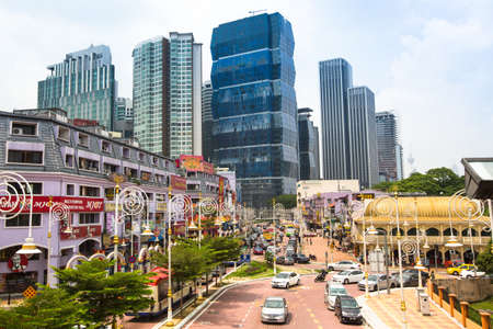 KUALA LUMPUR, MALAYSIA - MARCH 29: One of the streets in the city center on March 29, 2012 in Kuala Lumpur. KL was ranked 48th among global cities by Foreign Policy's and 67th among global cities for economic and social innovation. Stock Photo - 18864746