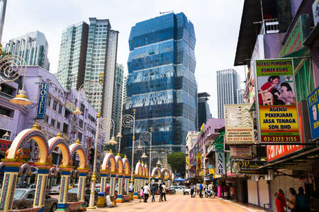 KUALA LUMPUR, MALAYSIA - MARCH 29: One of the streets in the city center on March 29, 2012 in Kuala Lumpur. KL was ranked 48th among global cities by Foreign Policy's and 67th among global cities for economic and social innovation. Stock Photo - 18864758