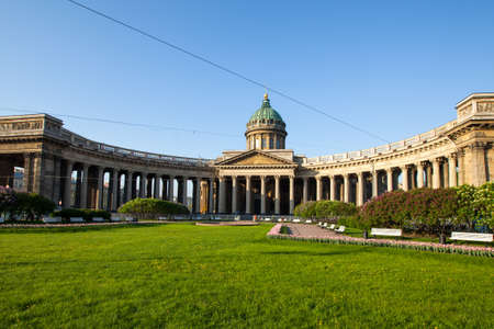 kazanskiy: ST.PETERSBURG, RUSSIA - MAY 21: Kazan Cathedral or Kazanskiy Kafedralniy Sobor in May 21, 2012 in St.Petersburg, Russia. The construction was started in 1801 and continued for 10 years. Editorial