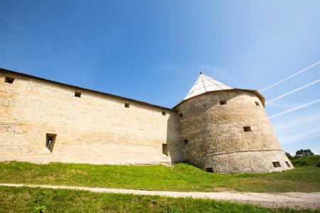 leningradskaya: Ancient fortress in Staraya Ladoga, Russia Editorial
