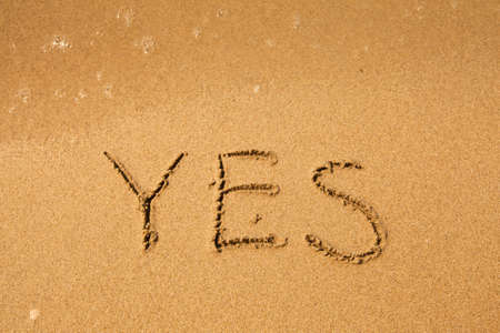 evoke: Yes - written in sand on beach texture (soft wave of the sea)