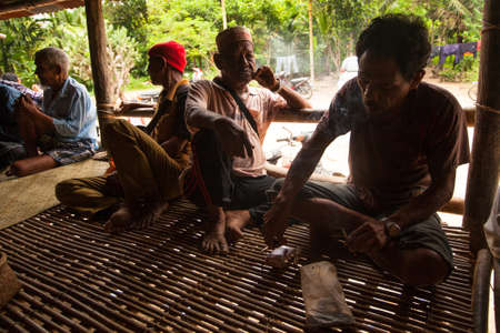 expectancy: BERDUT, MALAYSIA - APR 8: Unidentified people Orang Asli in his village on Apr 8, 2013 in Berdut, Malaysia. More than 76% of all Orang Asli live below the poverty line, life expectancy - 53 years old. Editorial