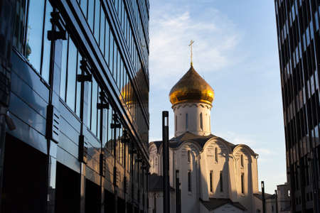 Temple of St  Nicholas in Moscow photo
