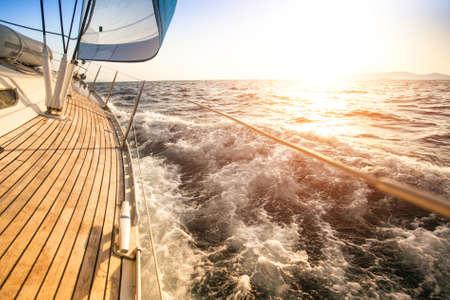 Sailing to the Sunrise  Luxury yacht